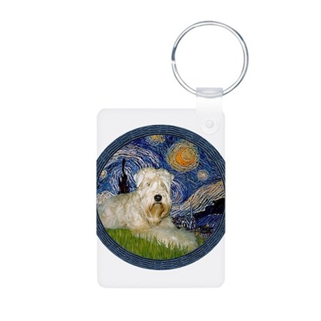Starry / Wheaten (#1W) Aluminum Photo Keychain