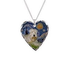 Starry / Wheaten (#1W) Necklace Heart Charm