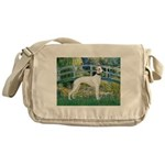 Bridge & Whippet Messenger Bag