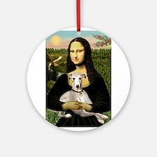 Mona & Whippet Ornament (Round)