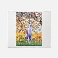Spring / Whippet Throw Blanket