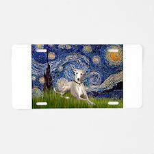 Starry Night Whippet Aluminum License Plate
