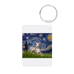 Starry Night Whippet Keychains