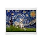 Starry Night Whippet Throw Blanket
