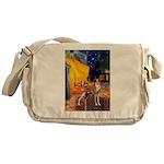 Cafe & Whippet Messenger Bag