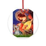 Mandolin Angel & Yorkie (T) Ornament (Round)