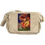 Mandolin Angel & Yorkie (T) Messenger Bag