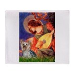 Mandolin Angel & Yorkie (T) Throw Blanket