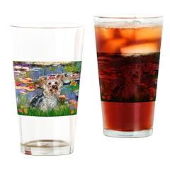 LILIES / Yorkie (T) Drinking Glass