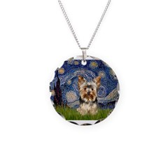 STARRY / Yorkie (17) Necklace Circle Charm
