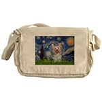 Starry Night Yorkie (T) Messenger Bag