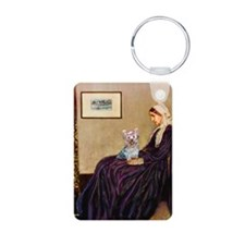 Mom's Yorkie TESS Aluminum Photo Keychain