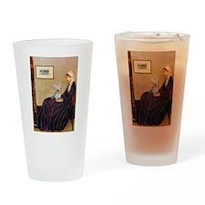 Mom's Yorkie TESS Drinking Glass