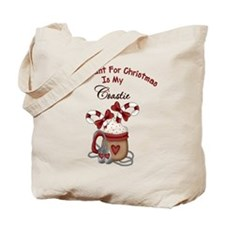 All I Want For Christmas Is My Coastie Tote Bag