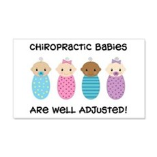Chiropractic Babies 22x14 Wall Peel