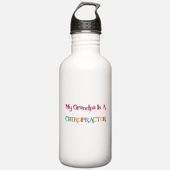 My Grandpa Is A Chiropractor Water Bottle