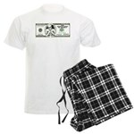 Sarcastic 100 dollars bill Men's Light Pajamas