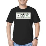 Sarcastic 100 dollars bill Men's Fitted T-Shirt (d