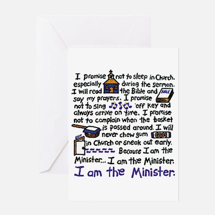 I'm the Minister Greeting Card