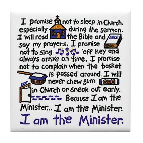 I'm the Minister Tile Coaster