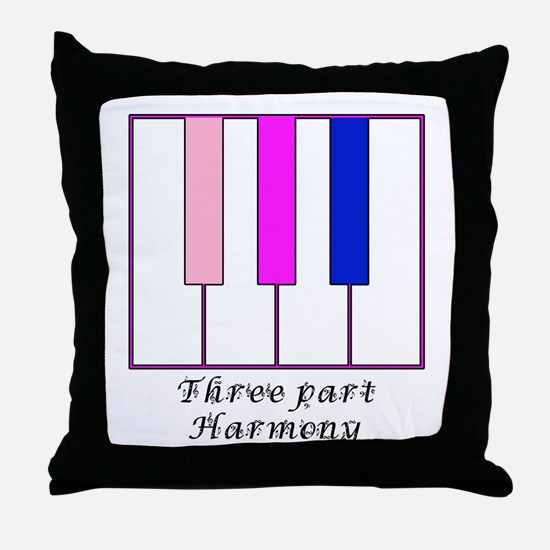 Three Part Harmony Throw Pillow