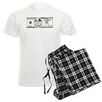 Satirical 100 dollars bill Men's Light Pajamas