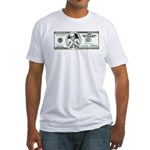 Satirical 100 dollars bill Fitted T-Shirt