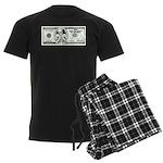 Satirical 100 dollars bill Men's Dark Pajamas