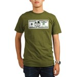 Satirical 100 dollars bill Organic Men's T-Shirt (