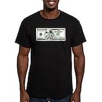 Satirical 100 dollars bill Men's Fitted T-Shirt (d