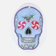 Christmas Skull Ornament (Oval)