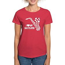 I Love My Sax Player Tee
