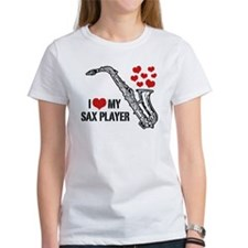 I Love My Sax Player Tee