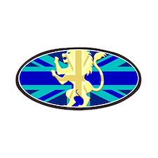 Lion Rampant Union Jack Patches