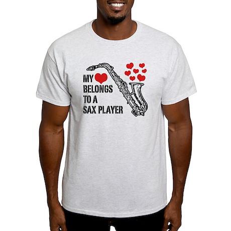 My Heart Belongs To A Sax Player Light T-Shirt