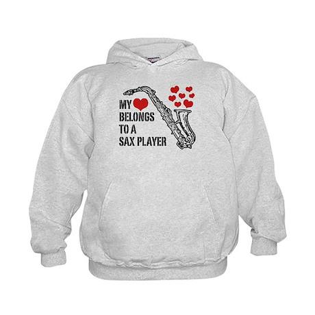My Heart Belongs To A Sax Player Kids Hoodie