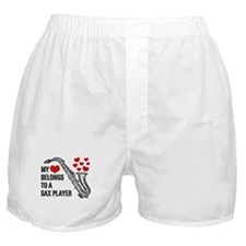 My Heart Belongs To A Sax Player Boxer Shorts