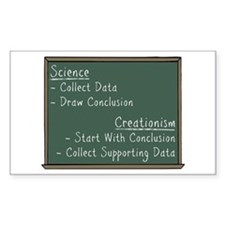 Science vs Creationism Decal