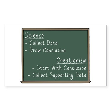 Science vs Creationism Sticker (Rectangle)