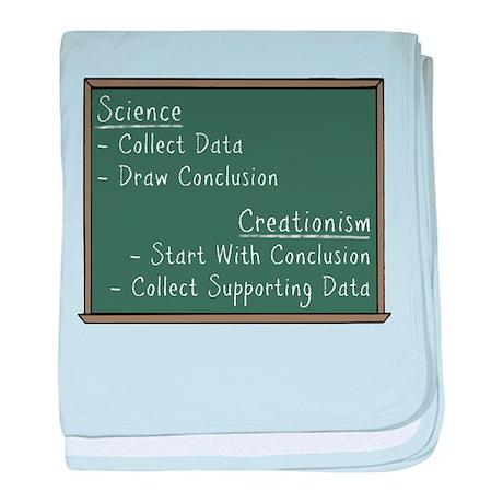 Science vs Creationism baby blanket
