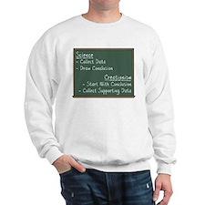 Science vs Creationism Sweatshirt