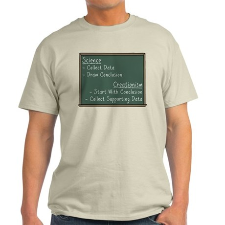 Science vs Creationism Light T-Shirt