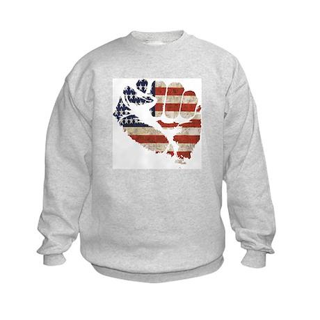 American Flag Fist Kids Sweatshirt