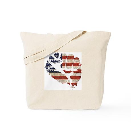 American Flag Fist Tote Bag