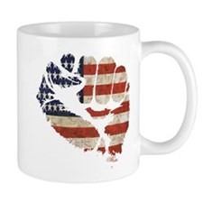 American Flag Fist Small Mug