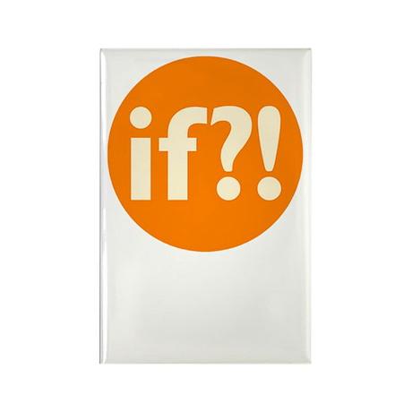 if?! orange/white Rectangle Magnet (10 pack)