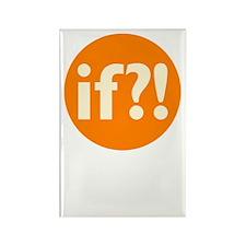 if?! orange/white Rectangle Magnet