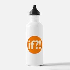 if?! orange/white Water Bottle