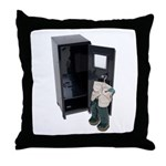 Locker Fishing Waders Throw Pillow