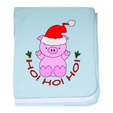 Cartoon Pig Santa baby blanket